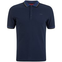 Hugo Men's Darese Collar Detail Polo Shirt Navy