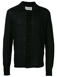 Our Legacy Flocked Semi Sheer Shirt Men Cotton Polyamide L Black
