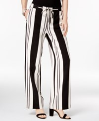 Inc International Concepts Striped Wide Leg Pants Only At Macy's Black White Stripe
