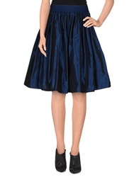 Denny Rose Knee Length Skirts Slate Blue