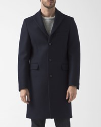 Acne Studios Navy Blue Garret Wool Overcoat