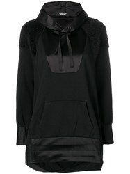 Undercover Contrasting Panel Hoodie Black