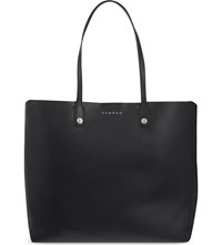 Sandro Large Leather Tote Black