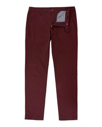 Ted Baker Men's Tintea Textured Cotton Chinos Red