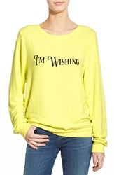 Wildfox Couture Women's Wildfox 'Baggy Beach Jumper I'm Wishing' Pullover