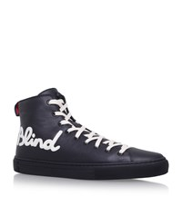 Gucci Major Blind For Love High Top Sneakers Male Black