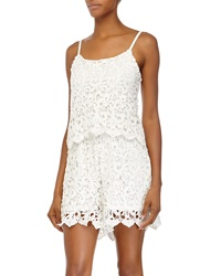 Romeo And Juliet Couture Lace Sleeveless Short Jumpsuit Ivory