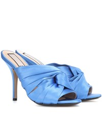 N 21 Knotted Satin Mules Blue