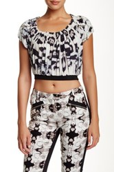 L.A.M.B. Printed Crop Top Multi