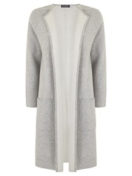 Mint Velvet Double Faced Knit Coat Grey