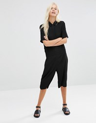 Minimum Nann Longline Playsuit Black