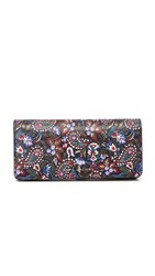 Marc Jacobs Garden Paisley Open Face Wallet Purple Multi