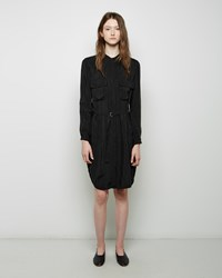 Raquel Allegra Belted Workshirt Dress Black