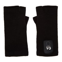 Y 3 Black Logo Gloves