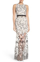 Aidan Mattox Women's By Embroidered Gown