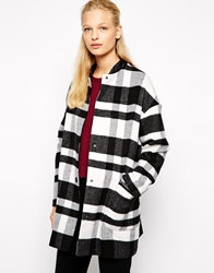 Mango Checked Coat Multi