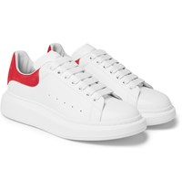Alexander Mcqueen Exaggerated Sole Leather Sneakers White