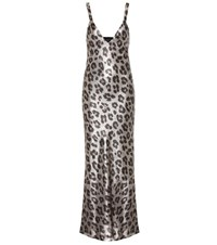 Haider Ackermann Leopard Print Dress Metallic