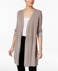 Alfani Mixed Stitch Duster Cardigan Only At Macy's Wall Street Gray