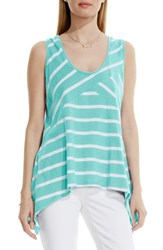 Women's Two By Vince Camuto 'Coast Stripe' Tank Pale Turquoise