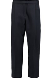 Mother Of Pearl Berrick Cropped Wool Pique Tapered Pants Blue