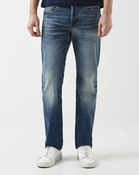 G Star Faded Blue 3301 Straight Cut Jeans
