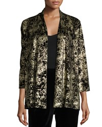 Caroline Rose Luminous Velvet Cardigan Women's Gold Black