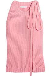 J.W.Anderson Ribbed Cotton Top Pink