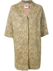 Semicouture 3 4 Sleeves Coat Gold