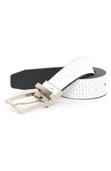 Nike Reversible Leather Belt White Black