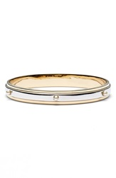 St. John Faux Pearl Studded Two Tone Bangle