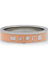 Marc By Marc Jacobs Enameled Silver Tone Ring Orange