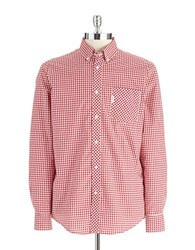 Ben Sherman Gingham Plaid Sportshirt Red