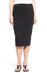 Women's Caslon Side Ruched Tube Skirt Black