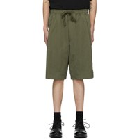Ziggy Chen Green Panelled Shorts