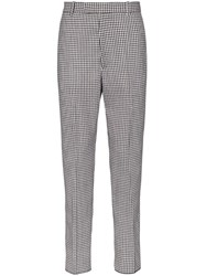 Alexander Mcqueen Checked Tailored Trousers Black