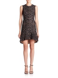 Bcbgmaxazria Chrystal Hi Lo Floral Lace Dress Black