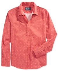 American Rag Men's Medallion Shirt Only At Macy's Weathered Red
