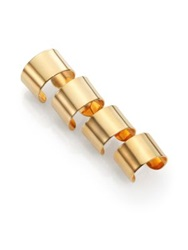 Maison Martin Margiela Knuckle Duster Four Band Ring Set Goldtone
