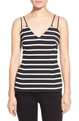 Women's Bailey 44 'Troy' Strappy Stripe Tank Black White