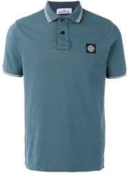 Stone Island Logo Polo Shirt Blue