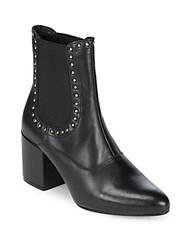 Saks Fifth Avenue Embellished Tumbled Leather Chelsea Boots Black