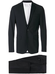 Dsquared2 Slim Fit Suit Cotton Polyester Spandex Elastane Virgin Wool Black