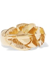 Aurelie Bidermann Talitha Gold Plated Ring 56
