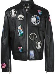 Versace Astronaut Patch Jacket Black