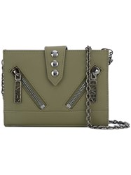 Kenzo Kalifornia Chain Wallet Women Calf Leather Metal Other One Size Green