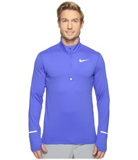 Nike Dry Element Long Sleeve Running Top Paramount Blue Reflective Silver Men's Long Sleeve Pullover