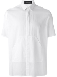 Kris Van Assche Short Sleeve Pocket Shirt White
