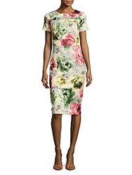 Alexia Admor Floral Print Sheath Dress Camellia