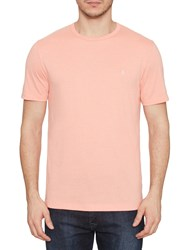 Original Penguin Peached Jersey Pin Point T Shirt Coral Almond Heather